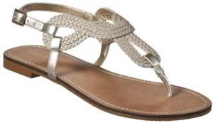 Silver metallic sandals from Target