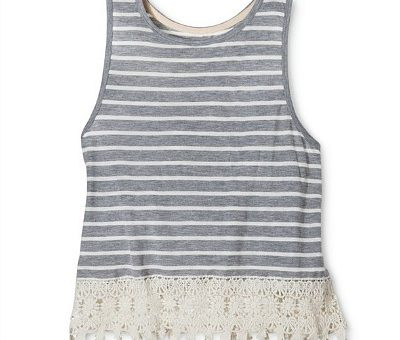 Target striped lace trim tank