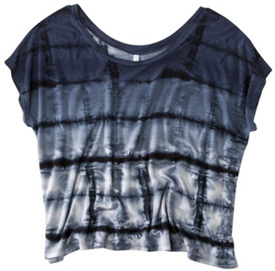 Target blue and charcoal tie dye tee shirt
