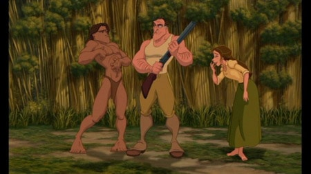 Jane from Disney's Tarzan in a green skirt