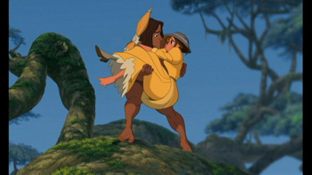 Jane wearing a yellow dress in Disney's Tarzan
