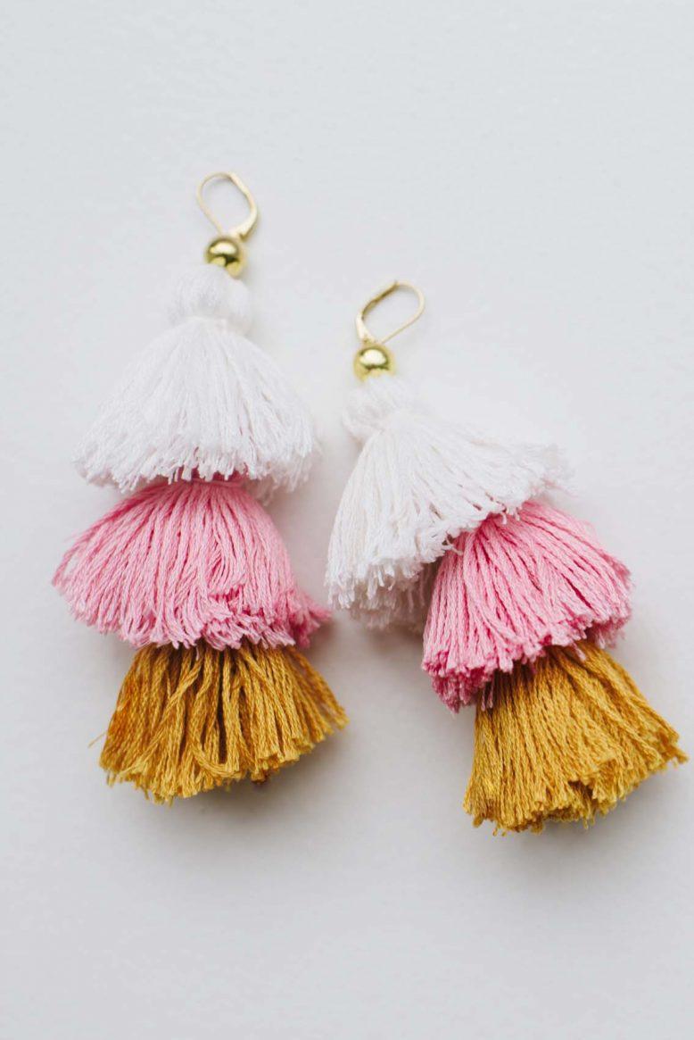 Photo of tassel earrings.
