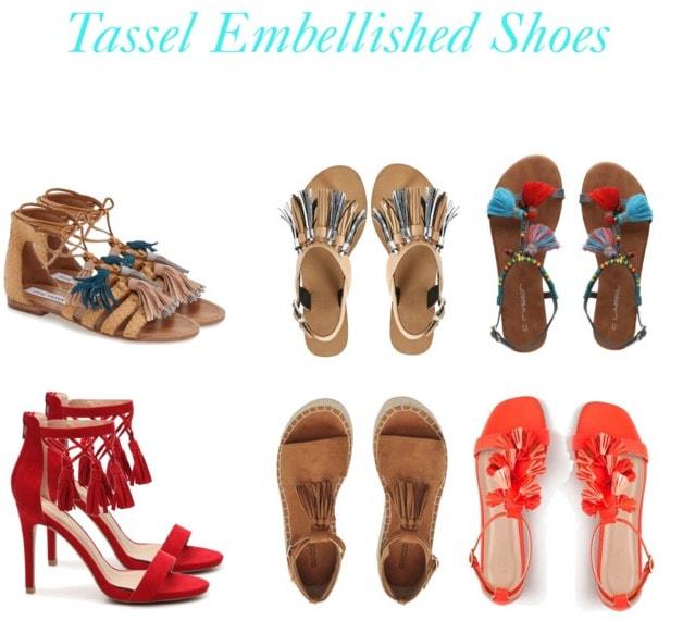 Tassel embellished shoes for summer 2016