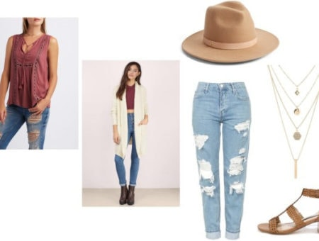 tassel top outfit set