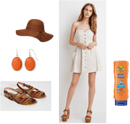 A tan dress is perfect for moisture farming!