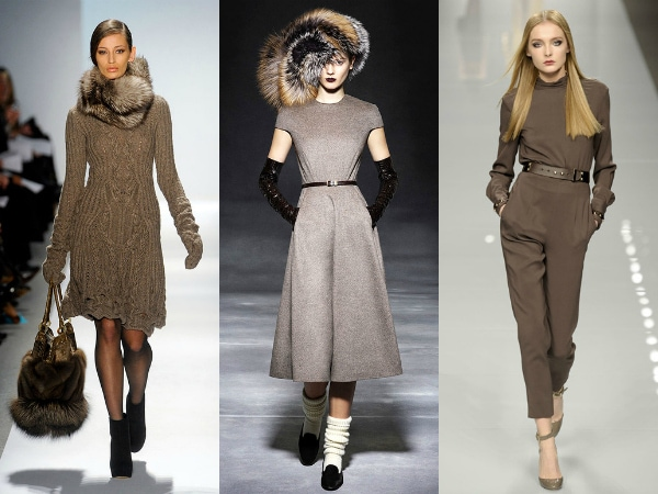 Taupe on the fall 2011 runways