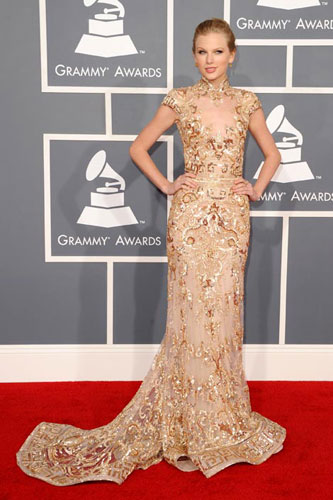 Taylor Swift at the 2012 Grammy Awards