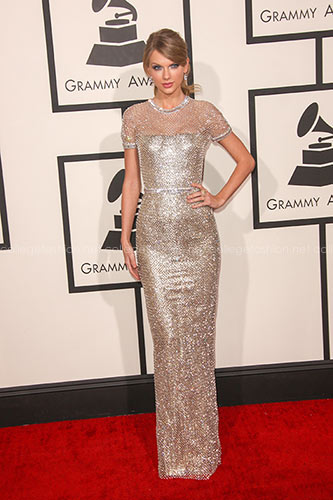 Taylor Swift in Gucci Première at the 2014 Grammy Awards