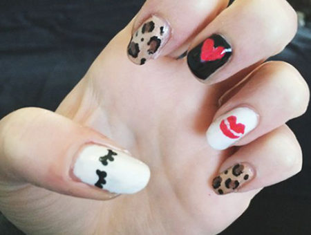 Taylor swift blank space nails