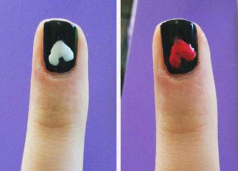 Taylor swift blank space nails heart