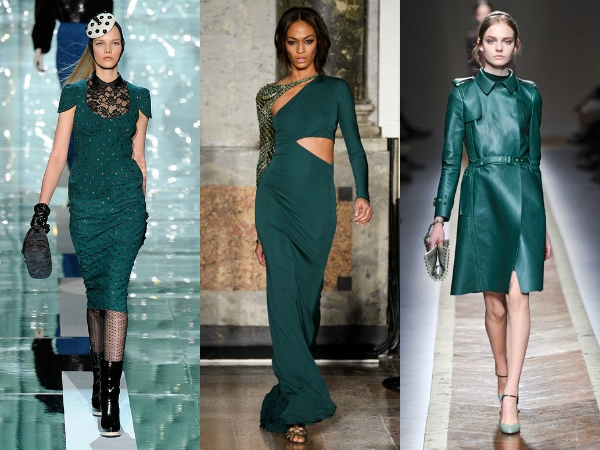 Teal on the fall 2011 runways