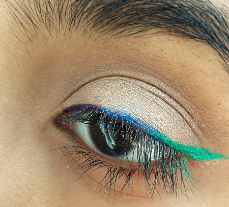 mermaid makeup look