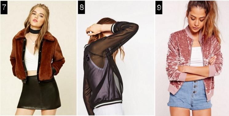 faux fur, sheer, velvet bomber jackets