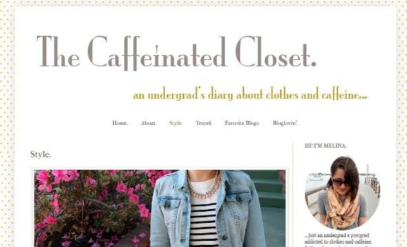 The caffeinated closet screenshot
