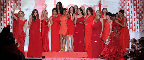 The Heart Truth Foundation red dress fashion show