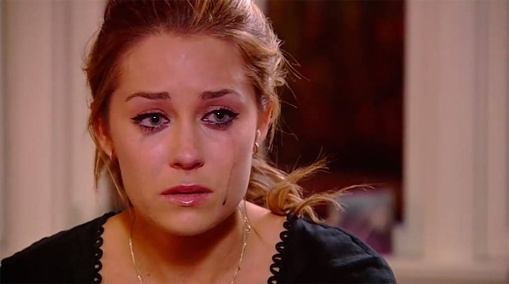 Best makeup removing wipes: Lauren Conrad crying -- she needs makeup remover!