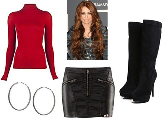 Fashion inspired by The Nanny - black leather and red