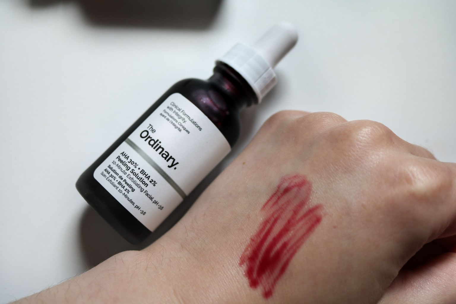 The Ordinary Skincare review: Swatch of the AHA BHA mask