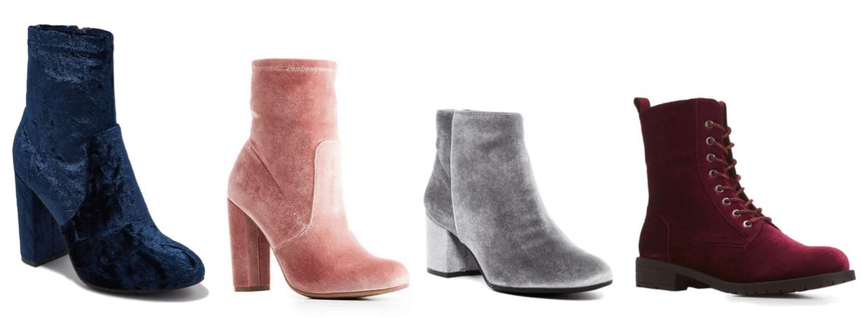 4 velvet boots.