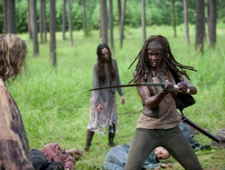 Michonne Walking Dead screenshot
