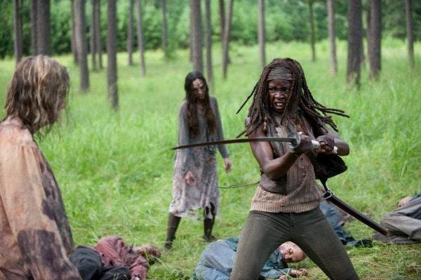 Michonne Walking Dead screenshot