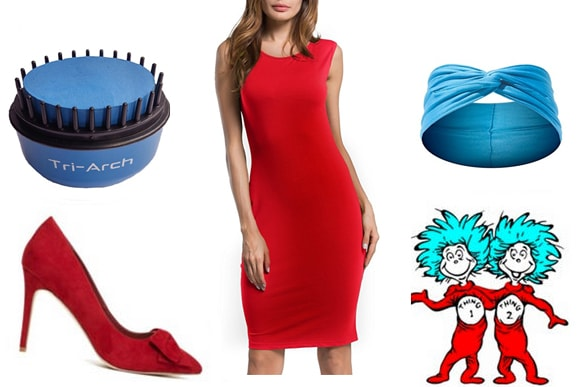 Last minute costume ideas: Thing 1 Thing 2 costume