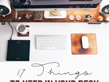 17 things to keep in your desk at work