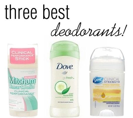 Three best deodorants