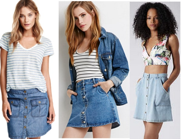 class to night out denim skirts