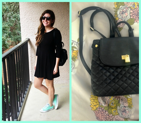 Spring break style: LBD with a pop of mint