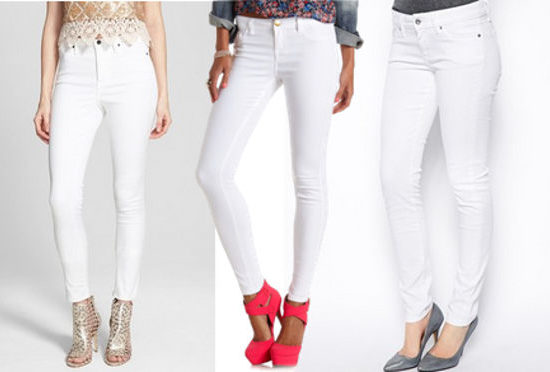 Three white jeans