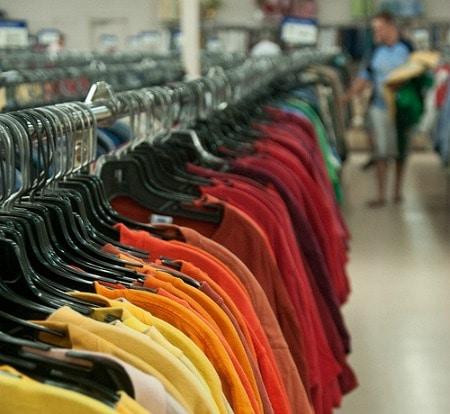 Thrift shop rack