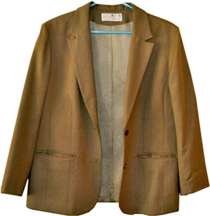 Thrifted brown wool blazer