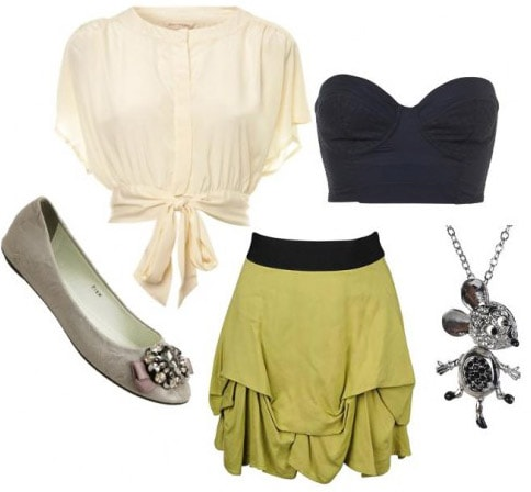 Casual outfit inspired by Disney's Tinkerbell
