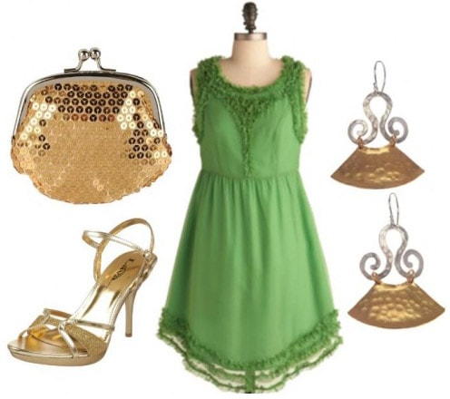 Dressy outfit inspired by Disney's Tinkerbell