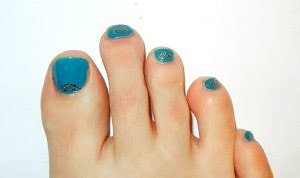 Pedicure nail art - Nail stickers