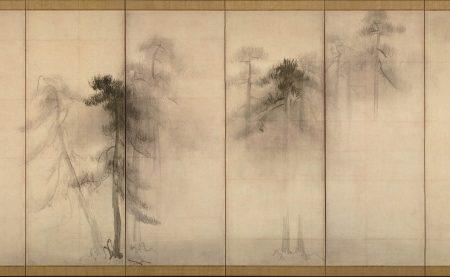 Tohaku pine trees