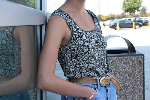 Student street style at UCLA - printed tank