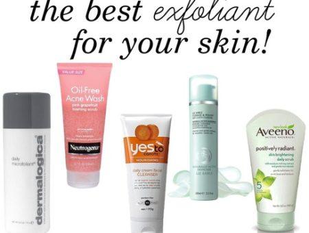 Top skin exfoliates