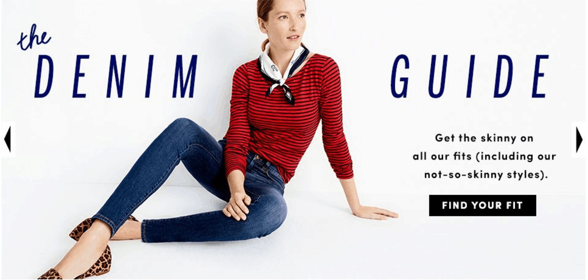 Screenshot of image from J.Crew Factory Canada website