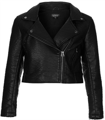 Topshop black pleather moto jacket