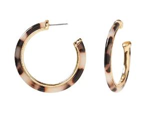 Tokyo Tortoise hoop earrings from Banana Republic