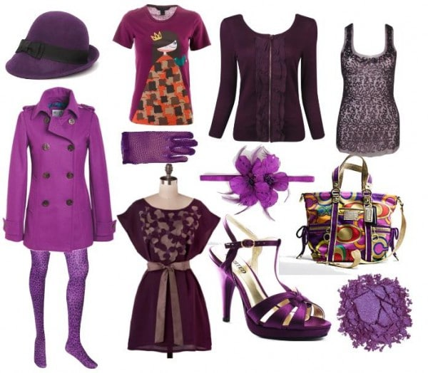 Purple clothes and accessories