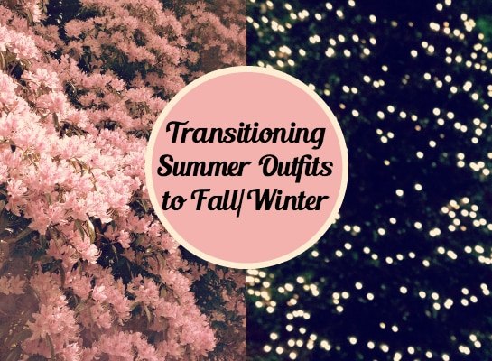 Transitioning-Summer-Outfits-to-Fall-Winter-Header-Pink-Flowers-Christmas-Lights