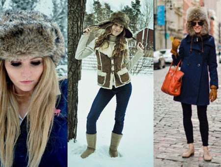 Trapper hats street style