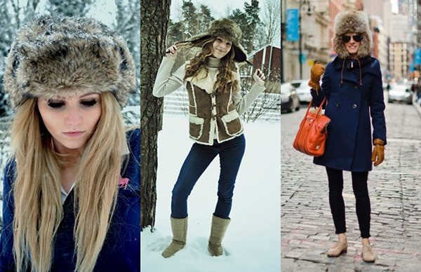 Trapper hats street style