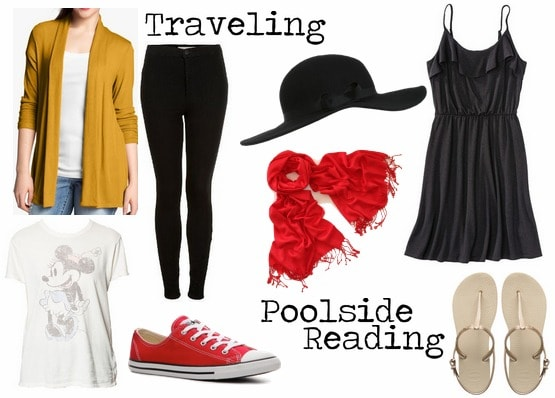 Traveling poolside reading outfit