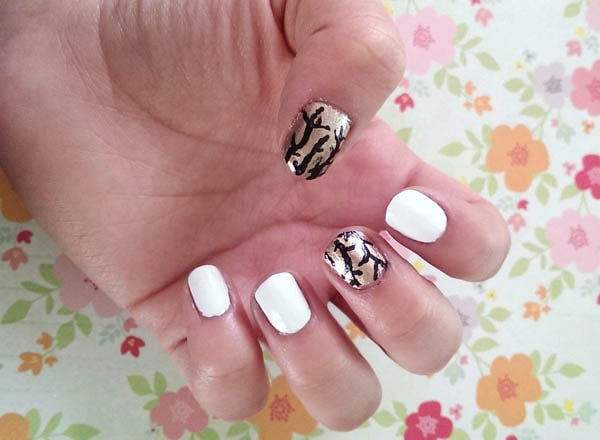 Tree nail art tutorial