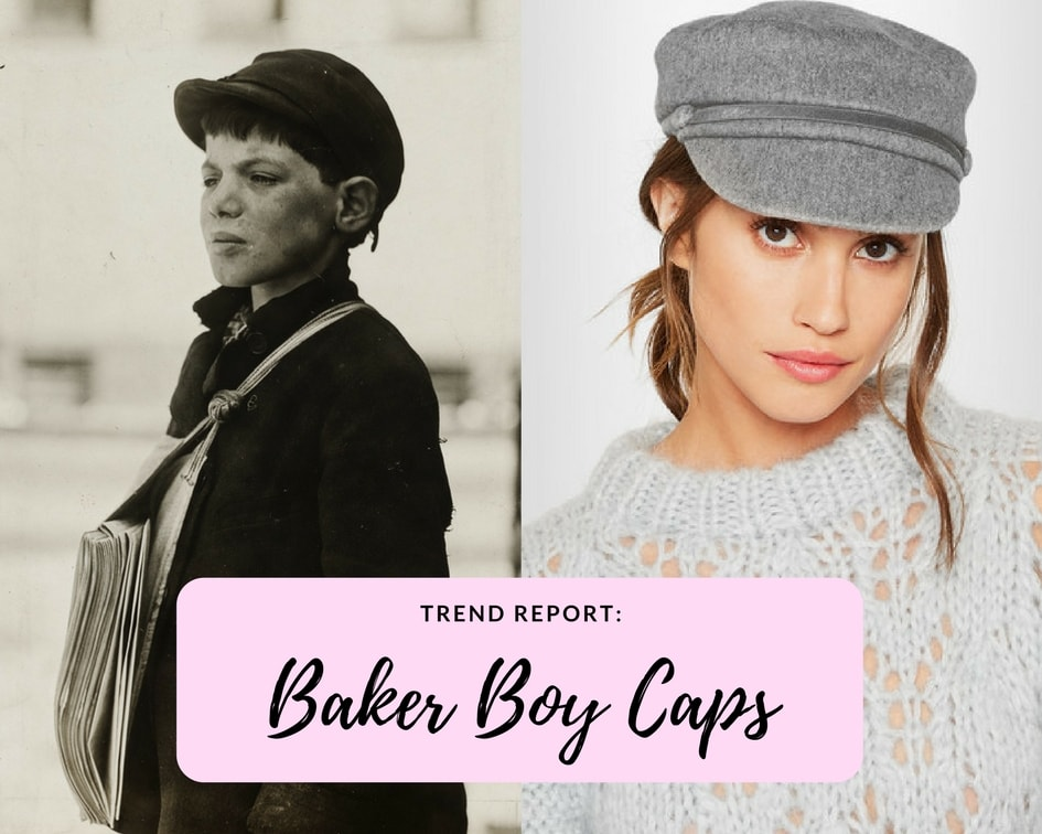 Newsies boy and Net-a-Porter model wearing baker boy caps
