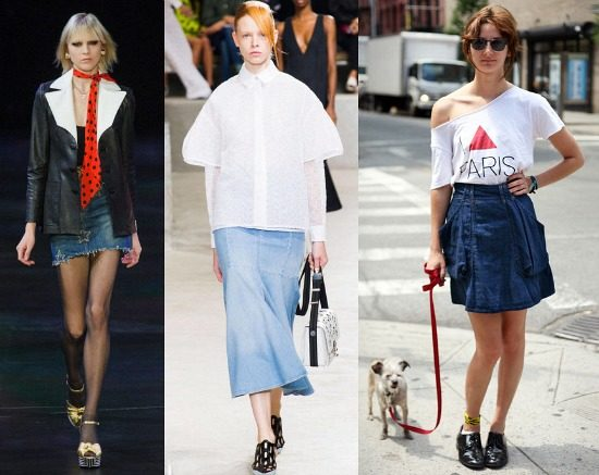 Denim skirts trend